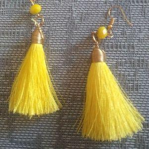Jewelry - Vintage Yellow Tassel Earrings